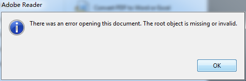 error when open corrupted pdf files