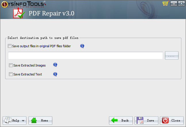 save the repaired pdf