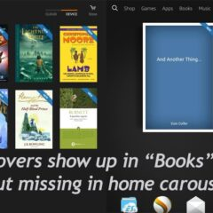 How to Display Book Cover in Kindle Fire HDX Carousel?