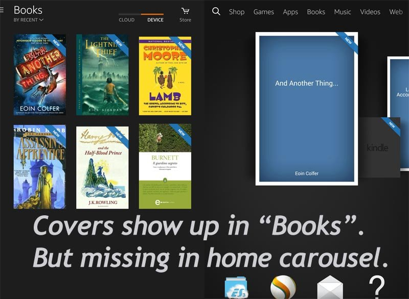 Kindle Book Missing Cover Art : How to display book cover in kindle fire hdx carousel