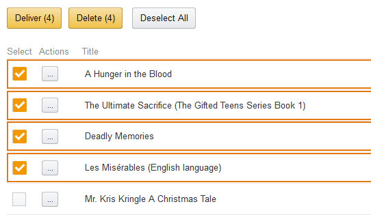 delete kindle books