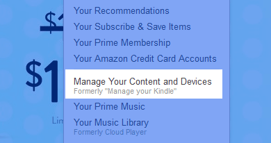manage your kindle content and device