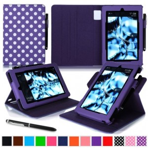 Fire HD 8 Case, Roocase Dual View Amazon Fire HD 8 PU Leather Folio Case Cover Stand
