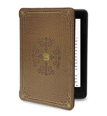 Verso Kindle Voyage Case - Prologue Tan Slim Fit Premium PU Leather Book Folio Style Protective Case with Auto Sleep/Wake for Amazon Kindle Voyage, Tan
