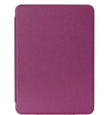 Wtitech PU leather case cover with automatic sleep function for Kindle voyage 2014 (Purple color)