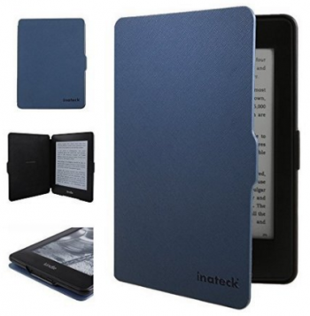 Inateck Kindle Paperwhite Case for Amazon All-New Kindle Paperwhite 2015 300 PPI 3rd gen/ 2014/ 2013/ 2012, with Magnetic Auto Sleep Wake Function, Blue