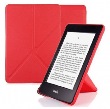 Nouske Amazon All-New Kindle Paperwhite Origami Cover Case Stand Sleeve Protective Skin Auto Sleep, Red