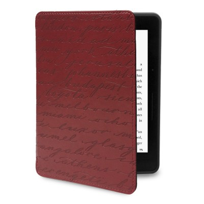 Verso Kindle Voyage Case - Artist Series Cities Red by Sharyn Sowell Slim Fit Premium PU Leather Book Folio Style Protective Case with Auto Sleep/Wake for Amazon Kindle Voyage, Red