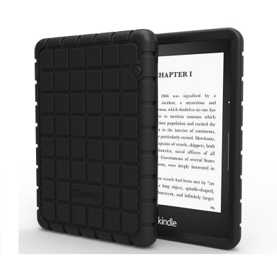 Kindle Voyage Case - Poetic Kindle Voyage Case [GraphGRIP Series] - [Lightweight] [GRIP] Protective Silicone Case for Amazon Kindle Voyage Black (3 Year Manufacturer Warranty From Poetic)