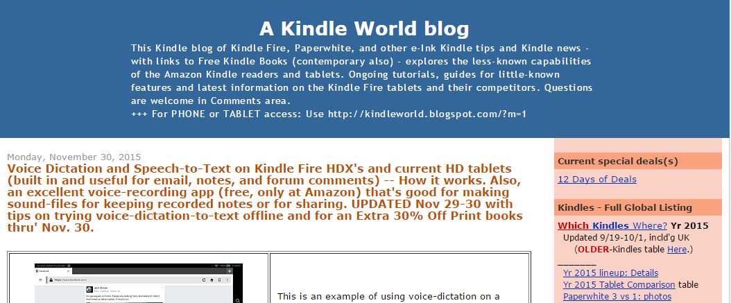 a kindle world blog