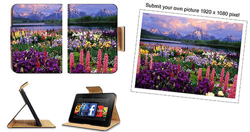 Customize Submit Your Picture Amazon Kindle Fire HD 7 [Previous Generation 2012] Flip Case Stand Magnetic Cover