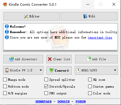 kindle comic converter