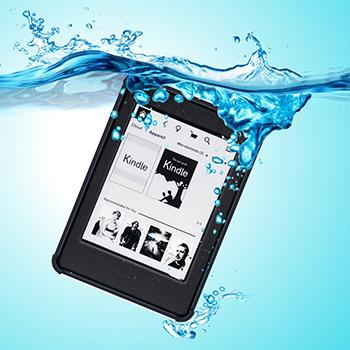 Kindle Paperwhite Waterproof Case, iThrough Waterproof Case, Dust Proof, Snow Proof, Shock Proof Full Sealed Protection Case with Touched Transparent Screen Protector for Amazon Kindle Paperwhite (Black-)