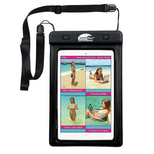 #1 Waterproof iPad Case For Large and Small Tablet, iPad, ipad mini, Kindle, Camera, Map etc. Pouch. Tested 20m Underwater. Easy to Use. 2 Tablet sizes available. Available for phones.