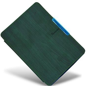 Cover Case for New Amazon Kindle Paperwhite Magnetic Leather Smart Case Cover Standar Auto Sleep Wake Function (Wood Series) Green + Screen Protector