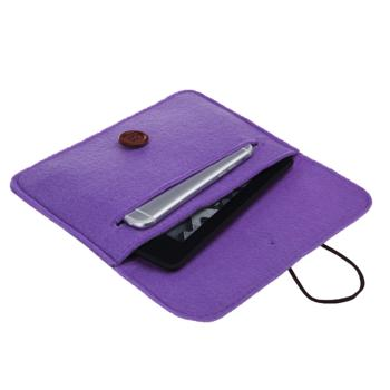 Bear Motion for Kindle - Premium Felt Sleeve Case for Kindle Paperwhite and Kindle Voyage (Purple)