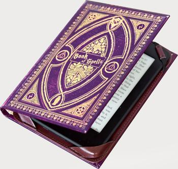 """Book Cover Case for ALL 6"""" Amazon Kindle eReader inc 2015 Paperwhite and Touch Screen - Book of Spells Harry Potter"""