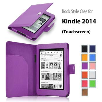 """Roll over image to zoom in Elsse For Kindle 6"""" Glare Free - Folio Case Cover for Kindle (7th Generation), Purple - will not fit previous generation Kindle devices"""