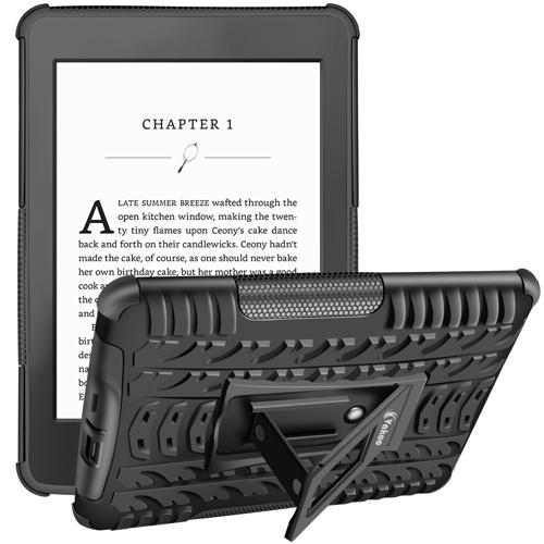 Vakoo Kindle Paperwhite Case,Armor Heavy Duty Rugged Dual Layer Hybrid Shockproof Case Protective Cover for Amazon Kindle Paperwhite with Built-in Kickstand (Black)