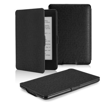 MoKo Case for Kindle Paperwhite, Premium Thinnest and Lightest Leather Cover with Auto Wake / Sleep for Amazon All-New Kindle Paperwhite (Fits All 2012, 2013 and 2015 Versions), BLACK