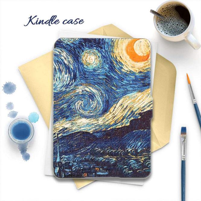 Kandouren Kindle Paperwhite Case – Van Gogh Starry Night