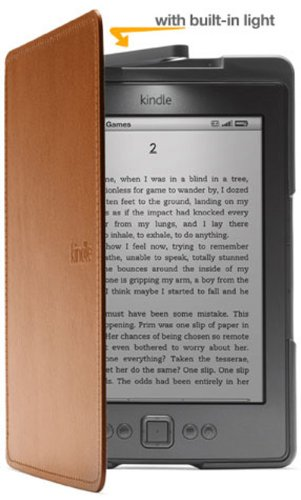 Amazon Kindle Lighted Leather Cover, Saddle Tan (for Kindle 5th Generation, 2012 model - does not fit current Kindle, Paperwhite, Touch, or Keyboard)
