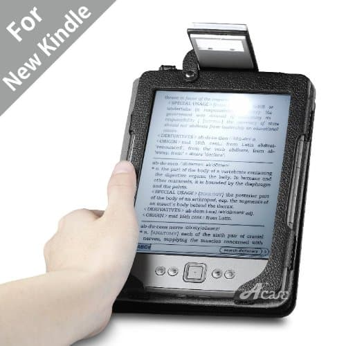 Acase Lighted Leather Case for Kindle 4