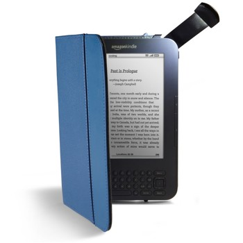 Kindle Leather Cover, Steel Blue, Updated Design (Fits Kindle Keyboard)