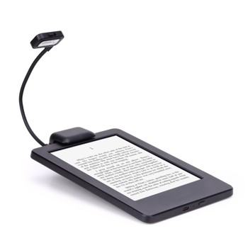 "MoKo Flexible Neck LED Clip-On Reading Light Lamp for Amazon Kindle 1 / 2 / 3 / 4 / 5, Kindle Gen 7th, Kindle Touch, Kindle DX/DXG, 6"" E Ink Display, Nook, eBook Reader, Tablet, Book, Textbook, BLACK"