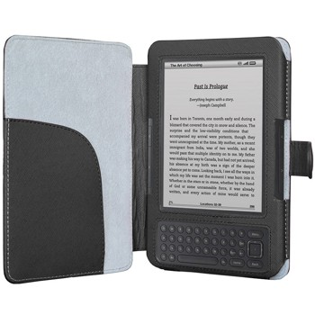 Kindle Keyboard (Kindle 3) Case,HOTCOOL Slim Premium New PU Leather Folio Cover Case For Amazon Kindle Keyboard(3th Generation), Black