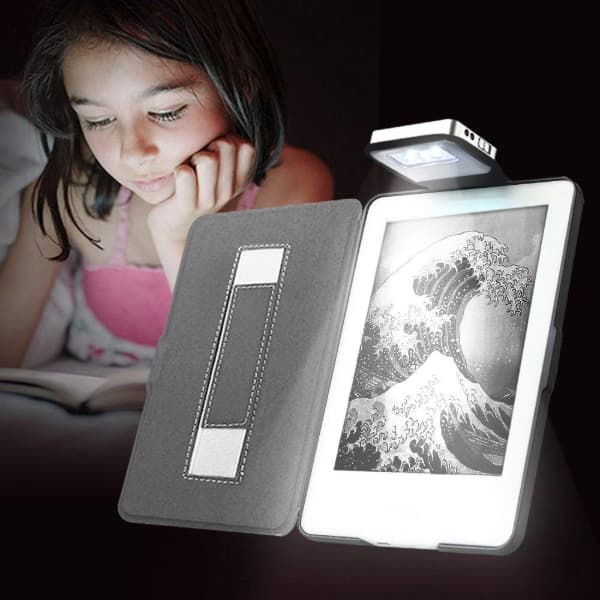 Young me Rechargeable Led Light and Hand Strap Leather Cover for Kindle 8th Generation