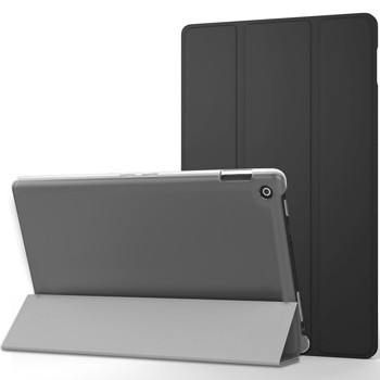MoKo Case for All-New Amazon Fire HD 8 (2016 6th Generation) - Ultra Lightweight Slim shell Stand Cover with Translucent Frosted Back for Fire HD 8 Tablet (6th Gen, 2016 Release Only), BLACK