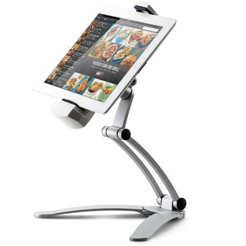 Kitchen Tablet Mount Stand, iKross 2-in-1 Kitchen Wall / CounterTop Mount Stand For 7 to 12 Inch Tablet fits with iPad Pro 9.7 / iPad Air / Mini, Microsoft Surface 3 10.8, ASUS ZenPad and more - White