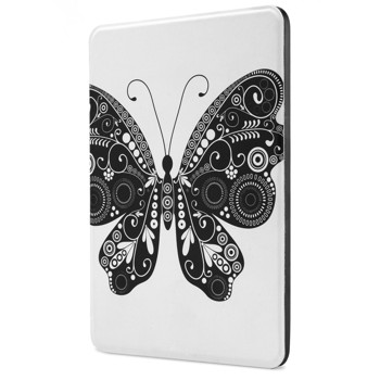 Kindle Voyage Case - Poetic Kindle Voyage Case [Slimline Series] - [Lightweight] [Ultra-slim] PU Leather Slim-Fit Cover Stand Folio Case for Amazon Kindle Voyage Butterfly (3 Year Manufacturer Warranty From Poetic)
