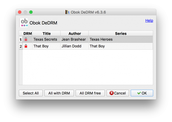 one click remove kobo drm with obok