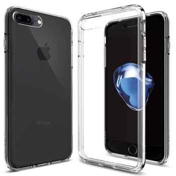 Spigen Ultra Hybrid iPhone 7 Plus Case with Air Cushion Technology and Hybrid Drop Protection for iPhone 7 Plus 2016 - Crystal Clear