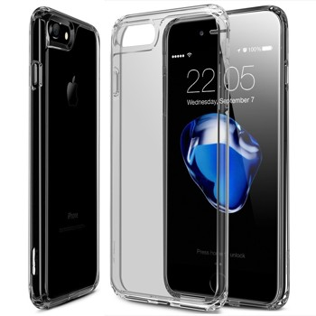 iPhone 7 Case, iPhone 7 Case Clear, ESR Soft TPU Bumper + Hard Clear Back Cover [Slim Fit] [Crystal Clear] JET BLACK Optimized Hybrid Case for 4.7 inches iPhone 7(Transparent Grey)