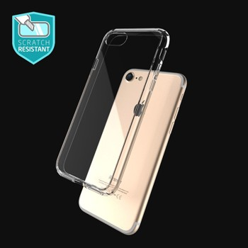iPhone 7 Case, ATGOIN Utmost Hybrid Crystal Clear Flexible TPU Hybrid Protective Shock Absorbing Bumper Case with Clear Back Panel [Lifetime Warranty] for Apple iPhone 7 4.7 inch - 2016 (Clear)