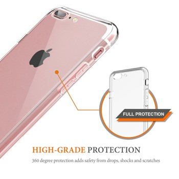 iPhone 7 Plus Slim Case, Swees Thin Fit & Lightweight Soft Flexible TPU Silicone Protective Case Cover, Transparent Crystal Clear Ultra Slim Thin Case for Apple iPhone 7 Plus 5.5 inches 2016 release