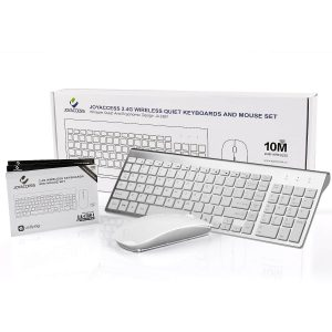 JOYACCESS Wireless Keyboards Combo Full-size Whisper-quiet Wireless Keyboards and Mouse in Ergonomic Design