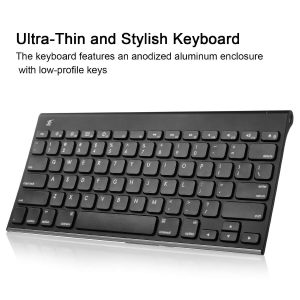 [Wireless Bluetooth Keyboard] iXCC Ultra Compact Slim profile Wireless Bluetooth Keyboard for Apple Mac Computers OS X v10.6.8 and Above - Black