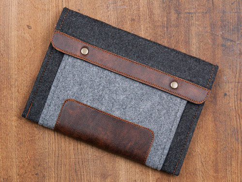 Dark Felt Kobo Mini Case. Sleeve for Kobo Aura H2O. Cover for Kobo aura one, Kobo Glo, Kobo Glo HD, Kobo Aura HD.