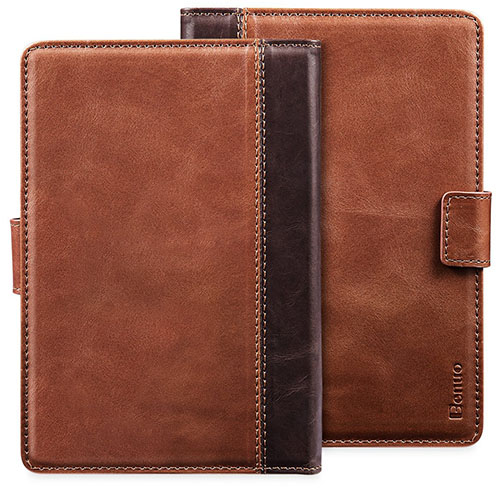 Kindle Paperwhite Case, Benuo [Classic Vintage Series] Premium Genuine Leather Case [2 Card Slots], Protective Flip Folio Cover Case [Magnetic Closure] for Amazon Kindle Paperwhite All Versions, Brown