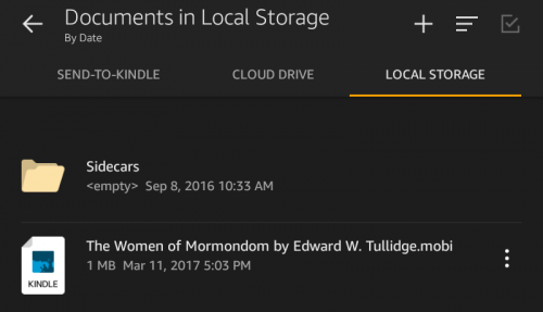 where to find sideload books in kindle fire