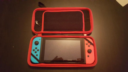 Nintendo Switch Carrying Case with the Tempered Glass Screen Protector