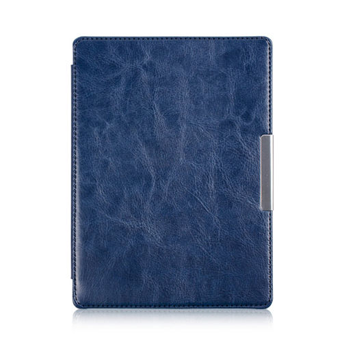 HUASIRU PU Leather Case for Kobo Aura H2O eReader [NOT Fit Kobo aura HD], Navy blue