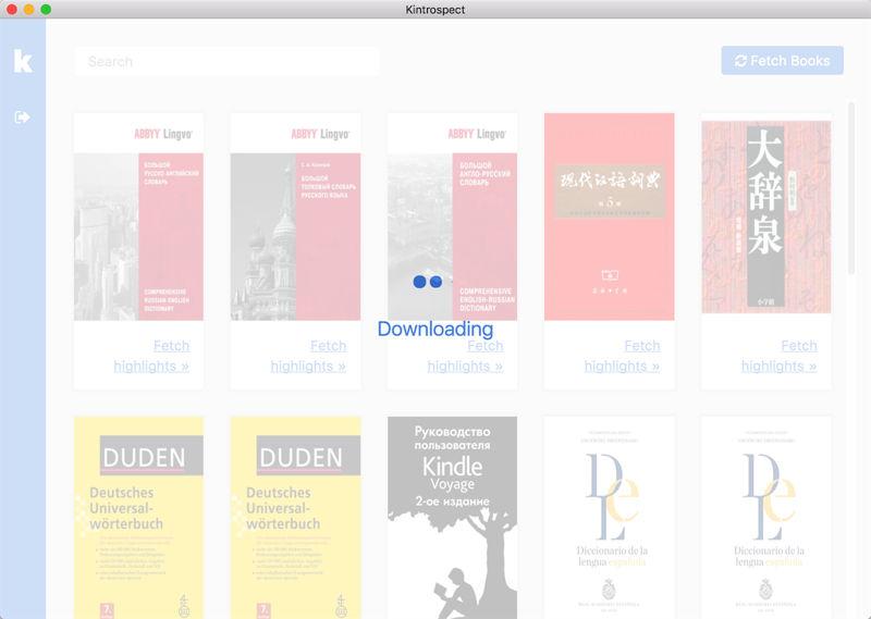kinstropect display kindle cloud library