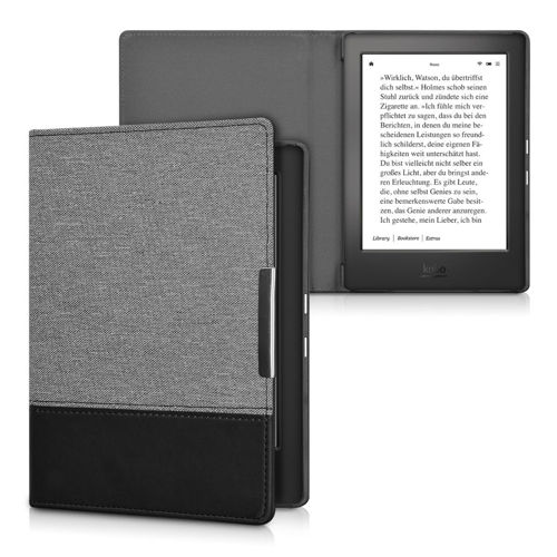 kwmobile CASE FOR KOBO AURA H2O DARK GREY BOOK COVER PROTECTIVE COVER BUMPER