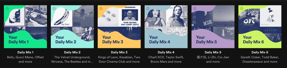 Daily mix: daily recommendation