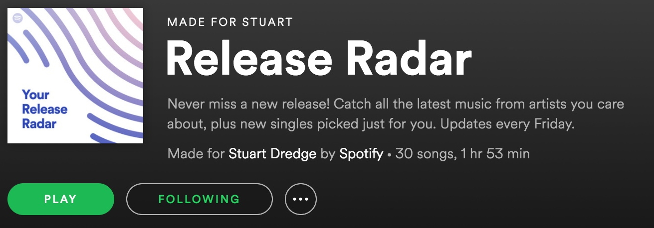 Release Radar: music released recently
